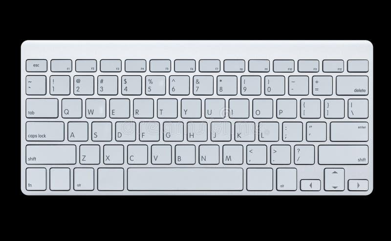 现代键盘 免版税图库摄影