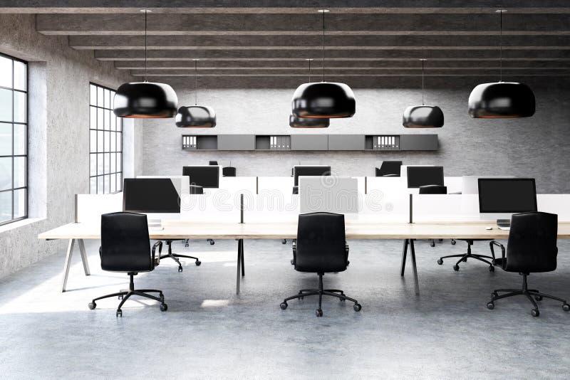 现代露天场所办公室在顶楼 库存例证