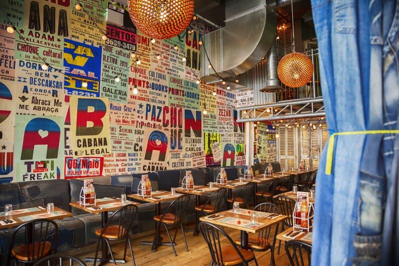 现代风格的墨西哥餐馆 库存照片