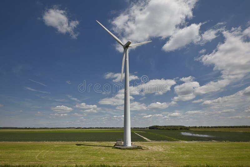现代风车涡轮 库存照片