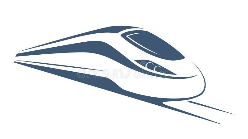现代高速火车象征,象,标签,剪影 库存例证