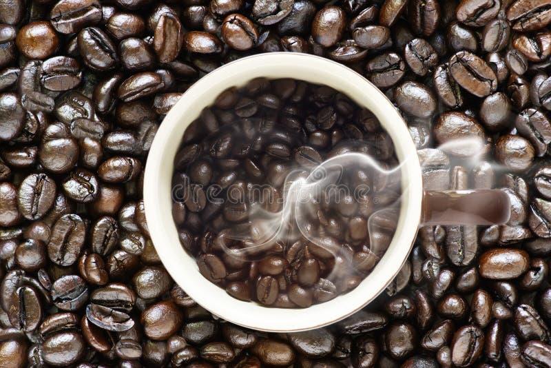 现代coffe豆和老原始的咖啡豆 库存图片