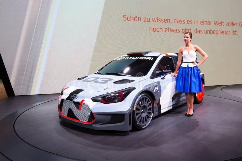 2015年现代i20 WRC 免版税库存图片