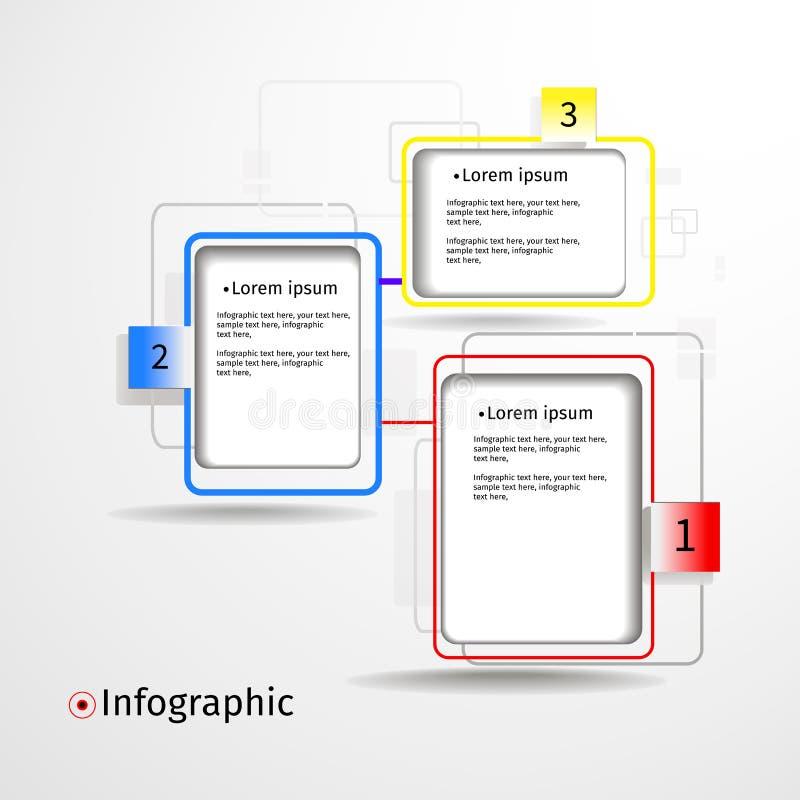 现代infogfaphic纸选择 向量例证