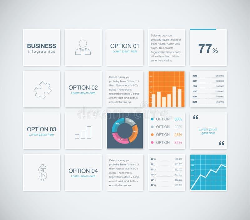 现代infographic企业传染媒介模板backgr 皇族释放例证