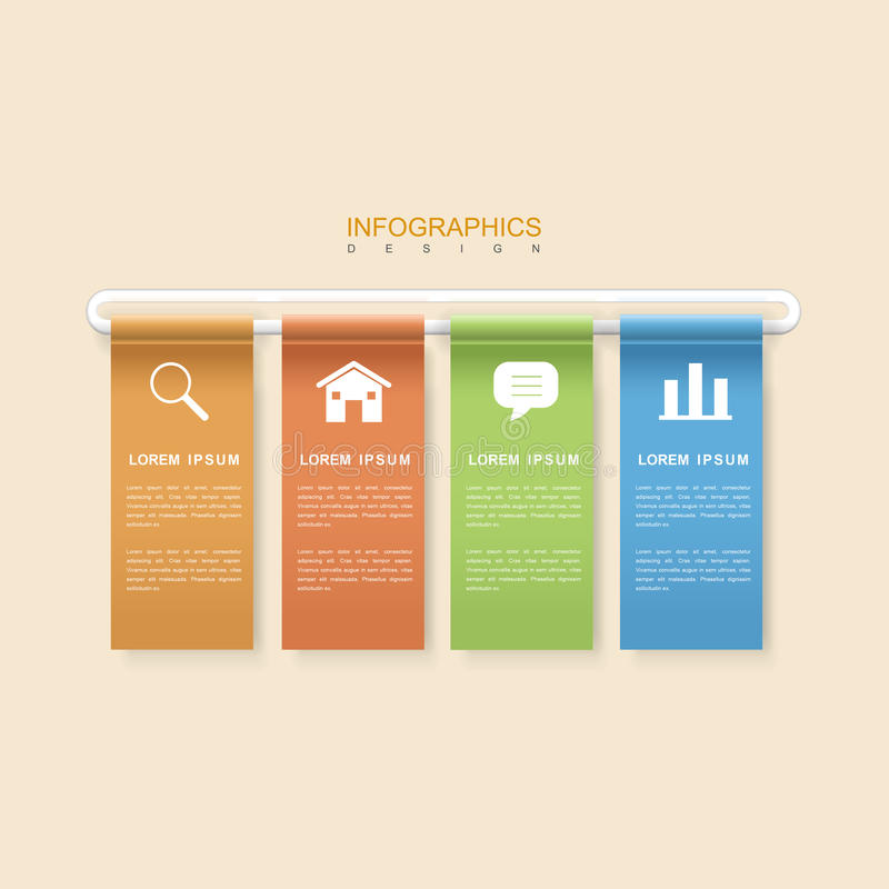 现代infographic设计 向量例证