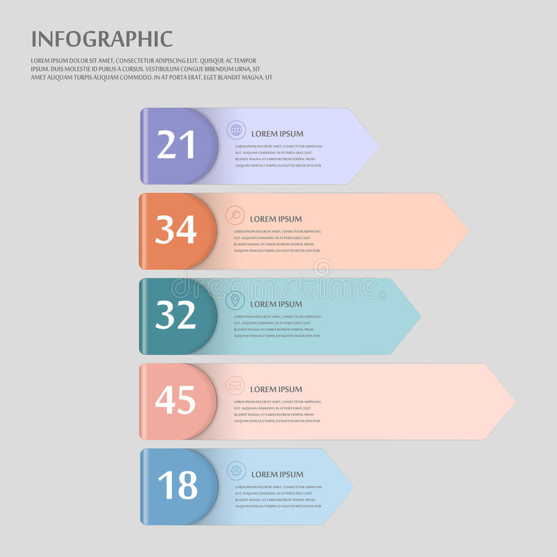 现代infographic设计 皇族释放例证