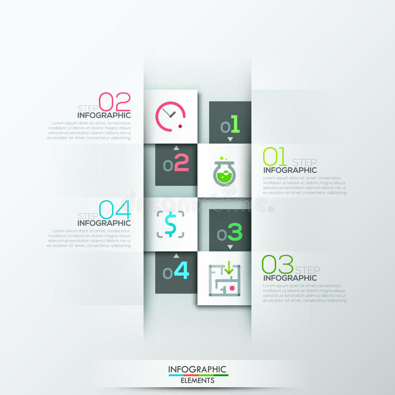 现代infographic选择横幅 向量例证