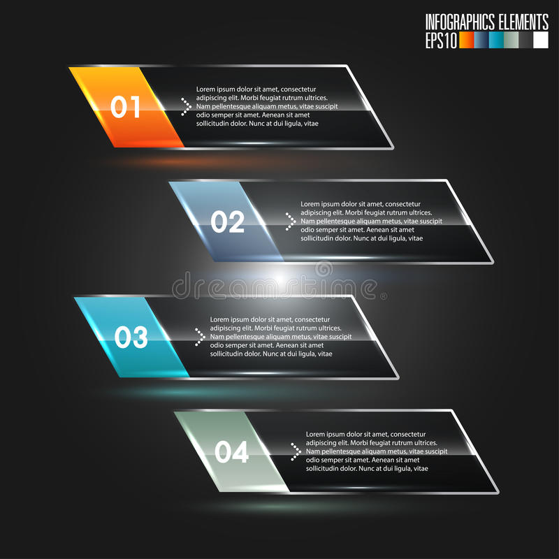现代infographics模板 向量例证