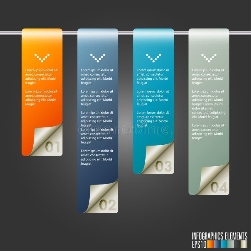 现代infographics模板 皇族释放例证