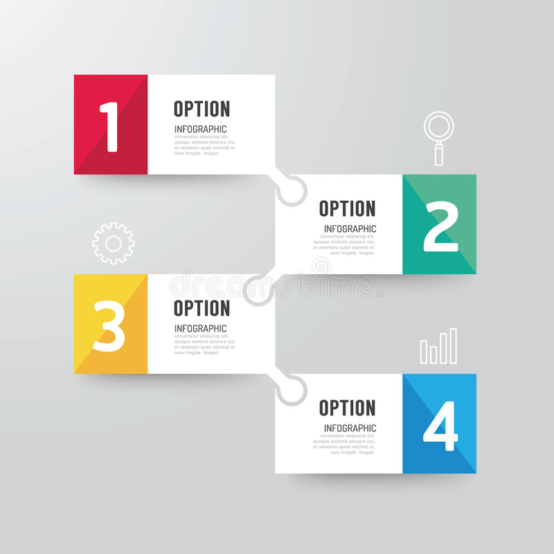 现代infographics设计选择横幅 也corel凹道例证向量 皇族释放例证