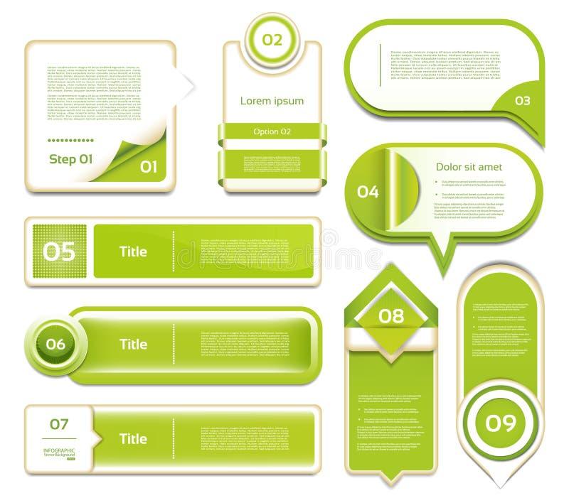 现代infographics选择横幅。传染媒介illustr 库存例证