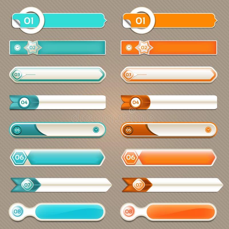 现代infographics选择横幅 也corel凹道例证向量 能为工作流布局,图,数字选择,网络设计, pri使用 皇族释放例证