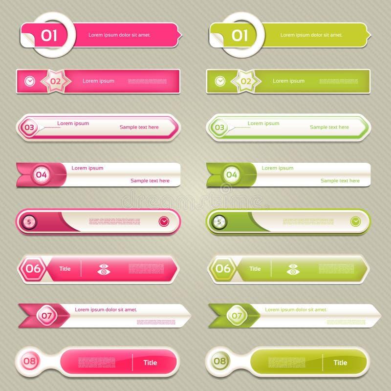 现代infographics选择横幅 也corel凹道例证向量 能为工作流布局,图,数字选择,网络设计, pri使用 库存例证