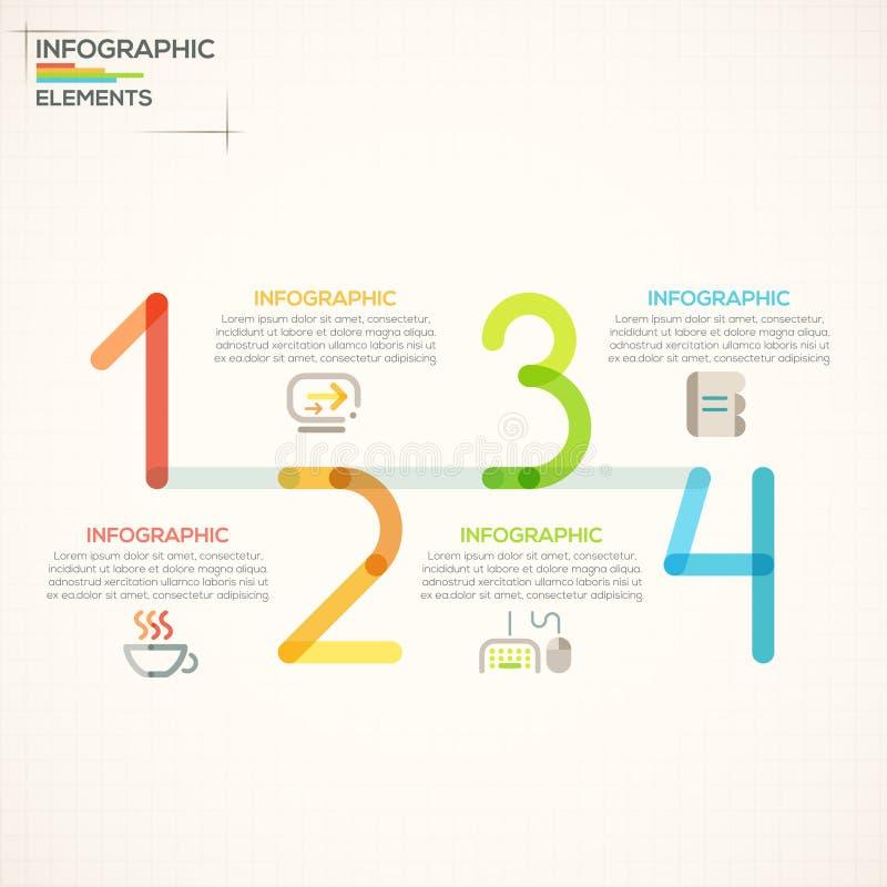 现代infographics选择横幅 皇族释放例证