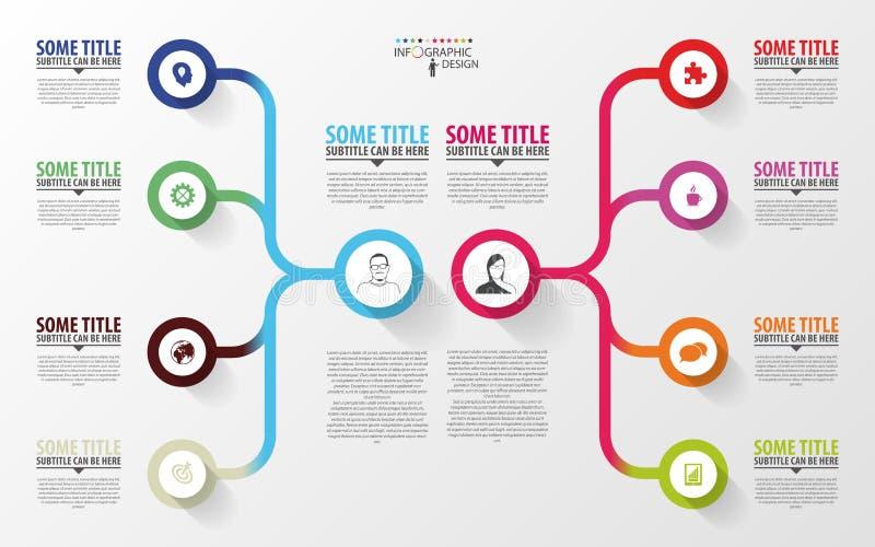 现代infographics 经营计划设计模板 向量 皇族释放例证