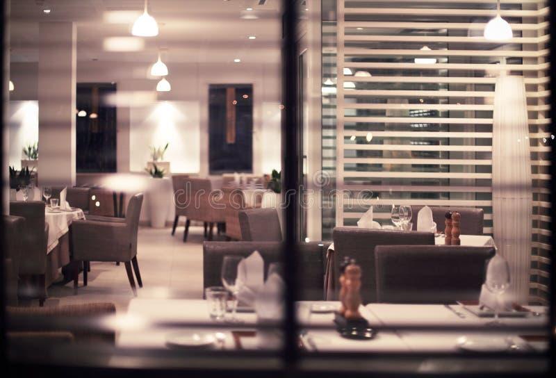 现代nigt俱乐部或餐馆内部  库存图片