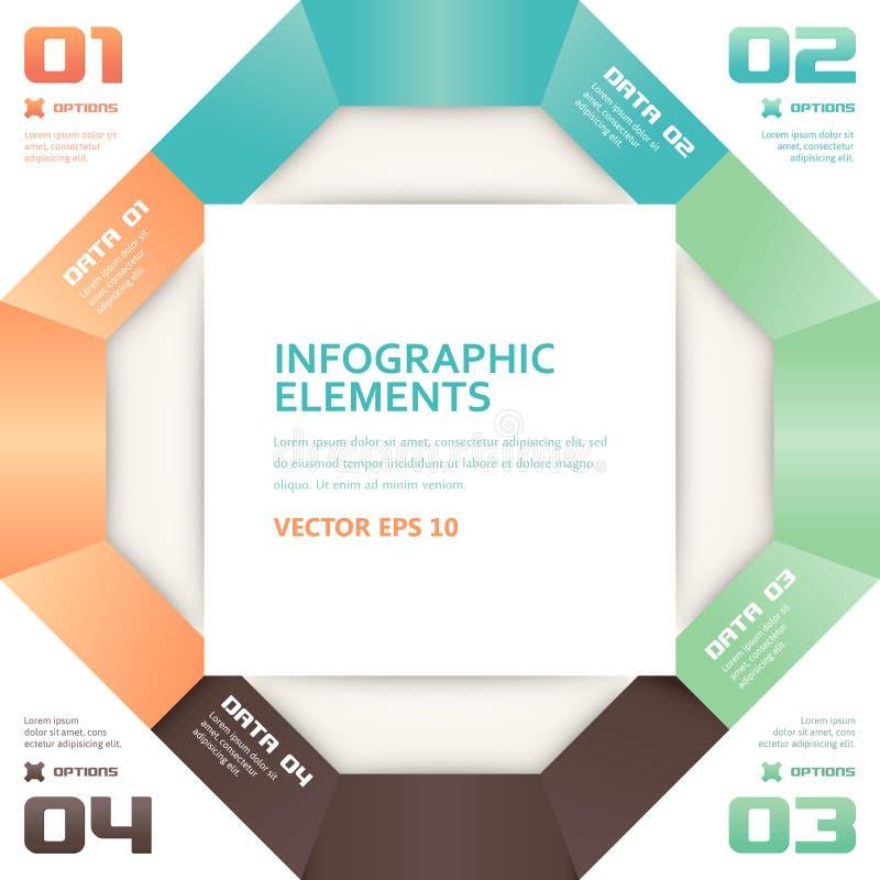 现代Origami样式数字选择Infographics横幅 库存例证
