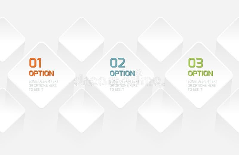 现代Origami样式选择横幅 向量例证