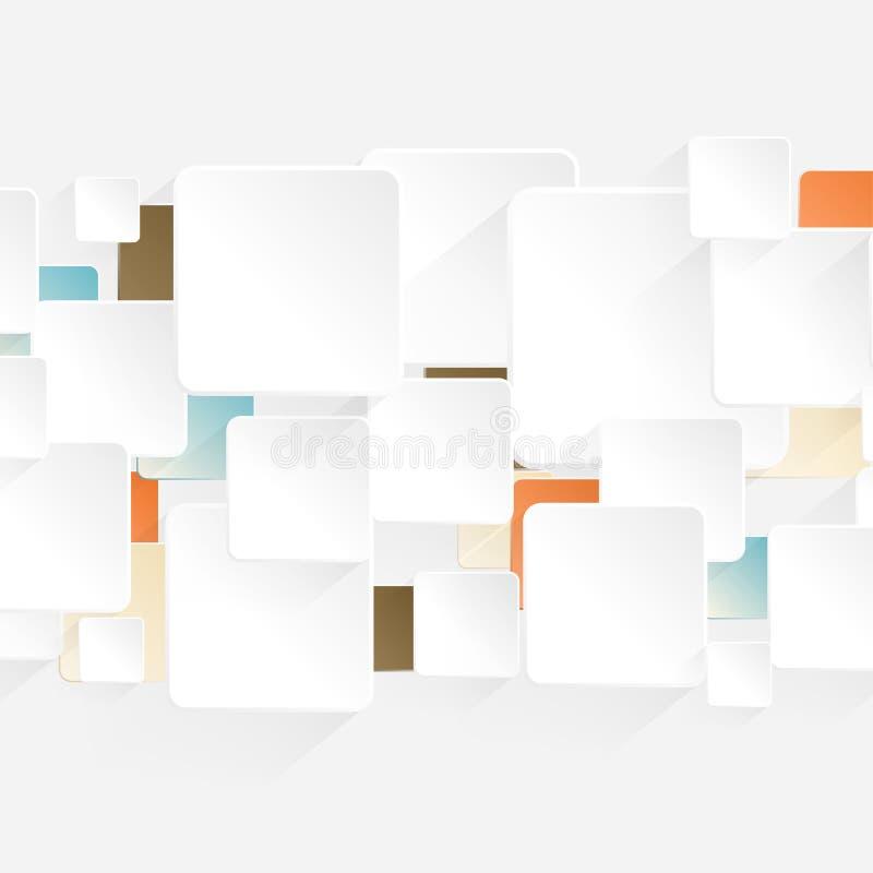 现代Origami箭头样式选择横幅 库存例证