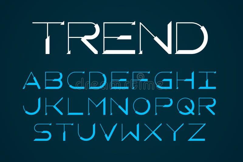 现代thinstyle时髦字体 向量例证
