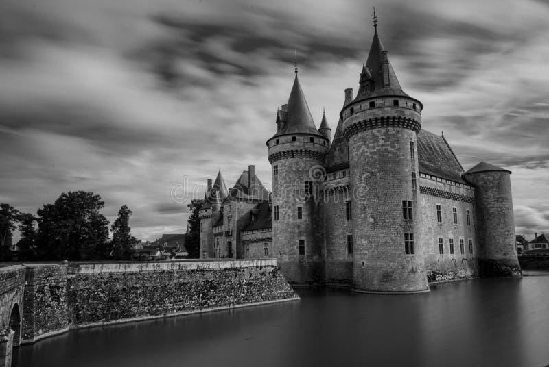 玷污苏尔卢瓦尔河,卢瓦尔河城堡地区,法国 免版税库存图片