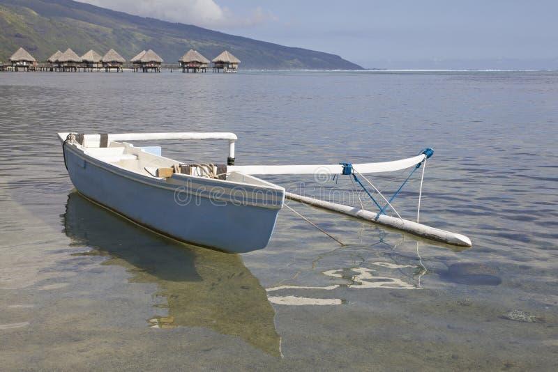 玻利尼西亚独木舟 免版税库存图片