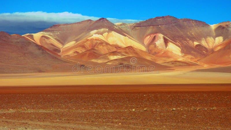 玻利维亚人的Altiplano,南美大理沙漠 库存照片