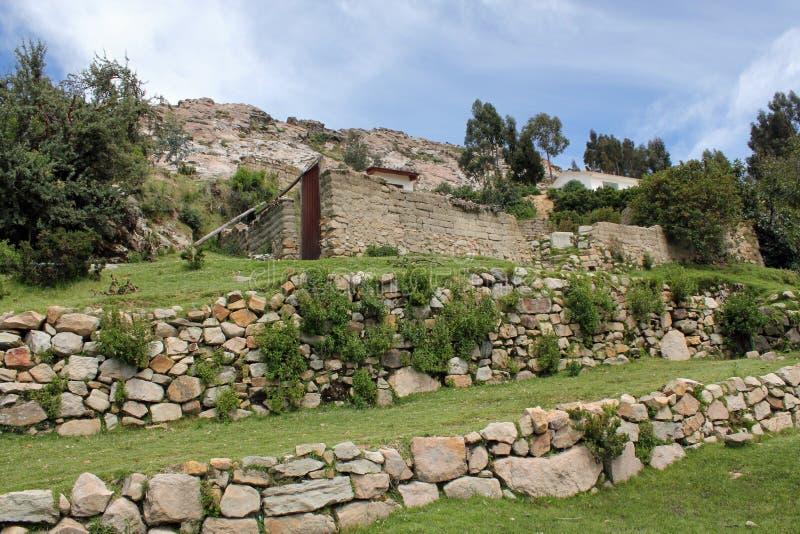 玻利维亚印加人废墟 免版税图库摄影