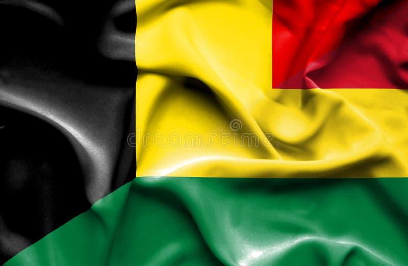 玻利维亚和比利时的挥动的旗子 向量例证