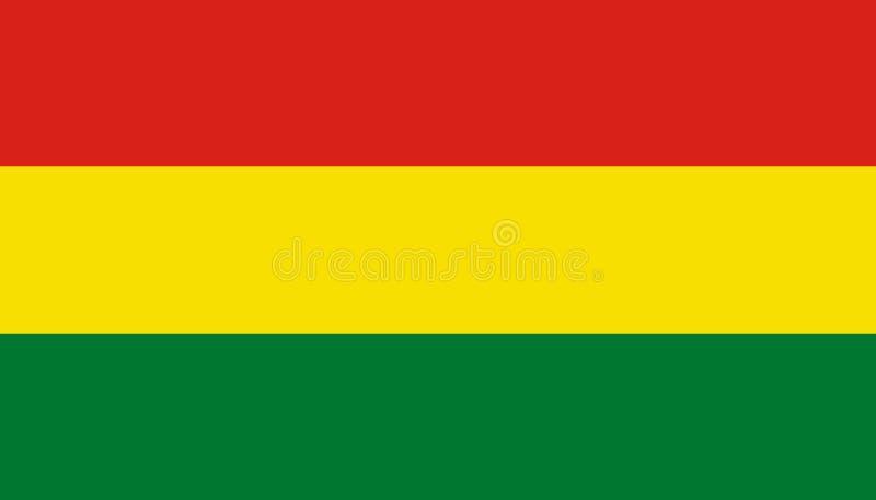 玻利维亚在平的样式的旗子象 r r 库存例证