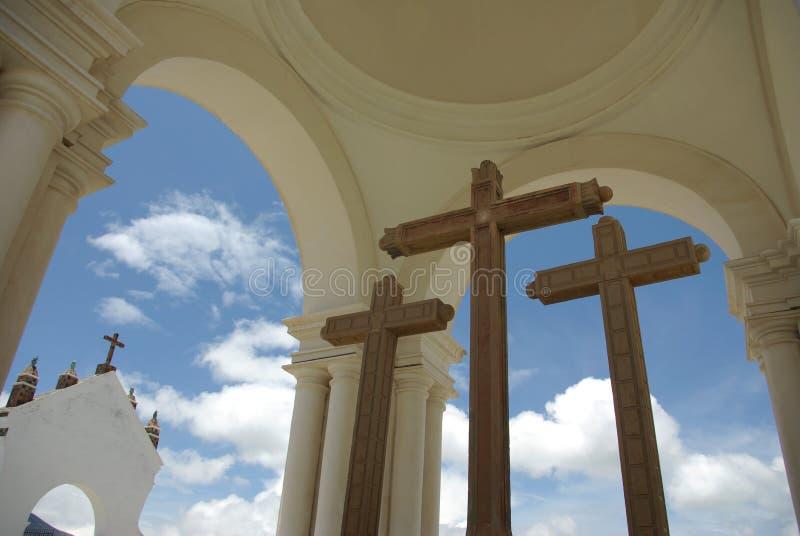 玻利维亚大教堂摩尔人 免版税库存照片