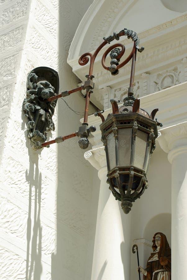 玻利维亚大教堂copacabana闪亮指示 免版税库存图片