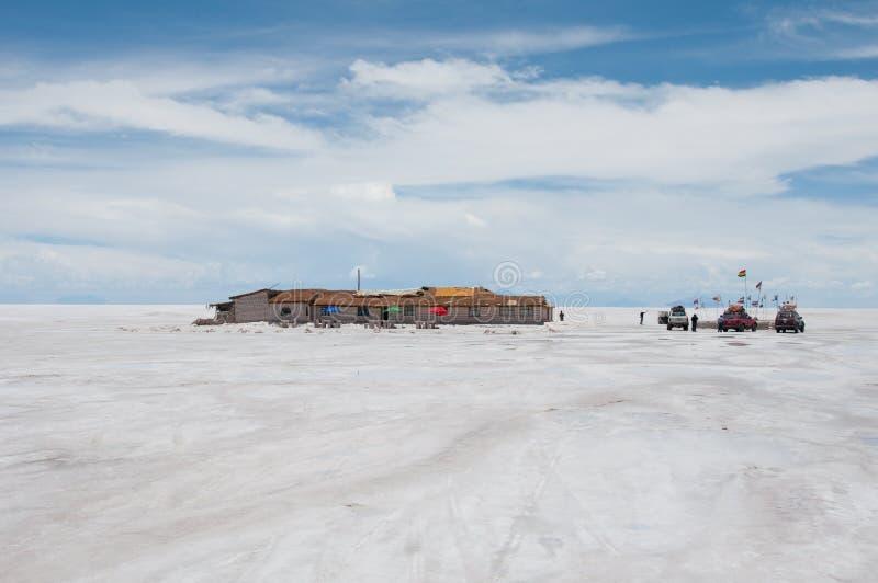 玻利维亚平面的盐uyuni 免版税库存照片
