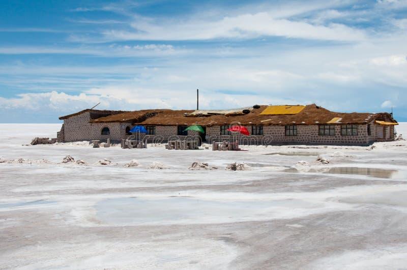 玻利维亚平面的盐uyuni 免版税库存图片