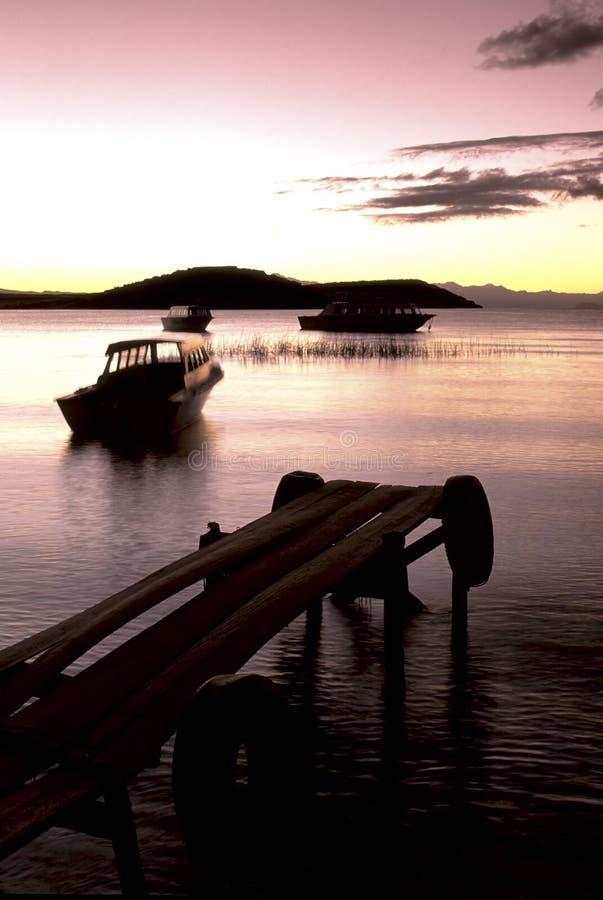 玻利维亚湖titicaca 免版税库存照片