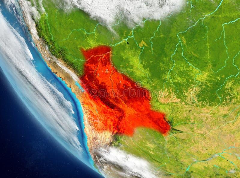 玻利维亚的卫星看法红色的 免版税图库摄影