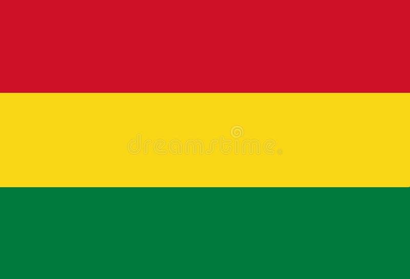 玻利维亚的国旗 与玻利维亚的旗子的背景 库存例证