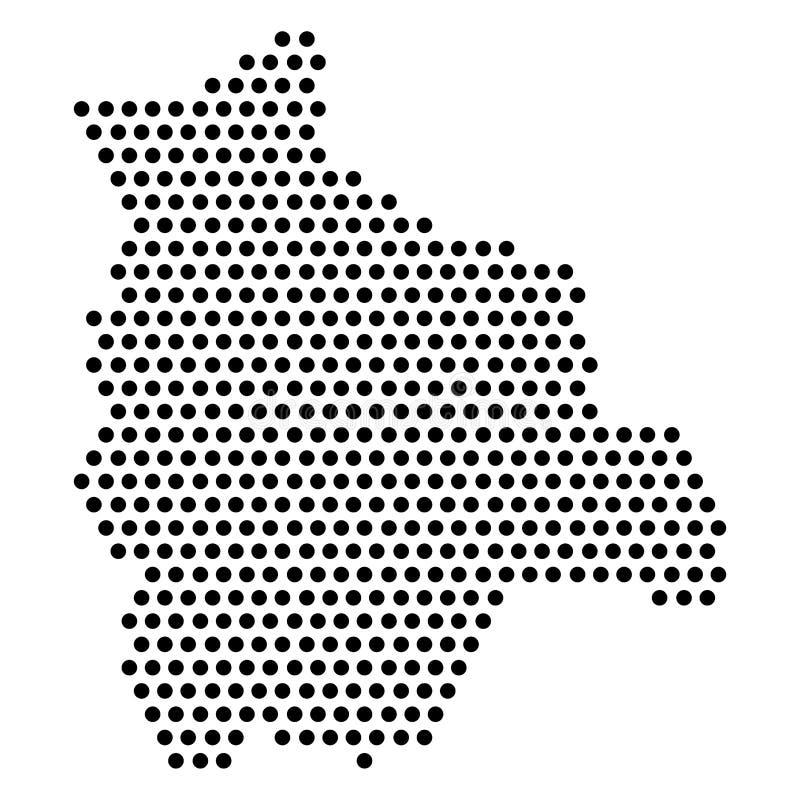 玻利维亚的被隔绝的被加点的政治地图 库存例证