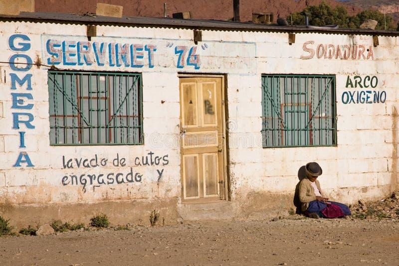 玻利维亚贫寒妇女 库存图片