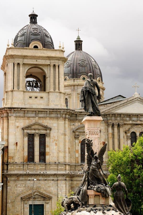 玻利维亚,拉巴斯,大教堂 库存图片