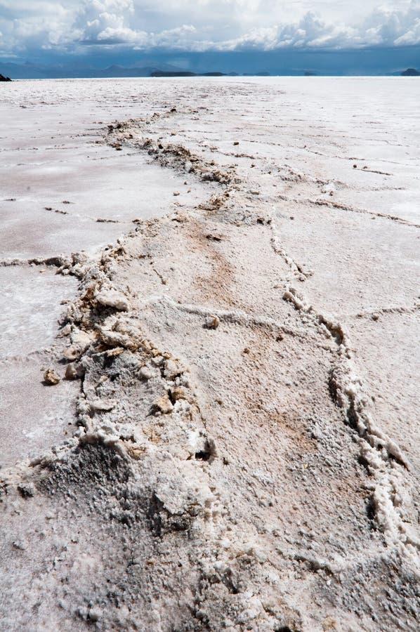 玻利维亚de平面的撒拉尔盐uyuni 图库摄影