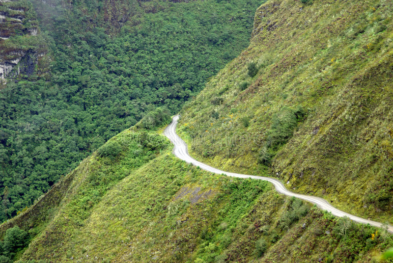 玻利维亚yungas 库存照片