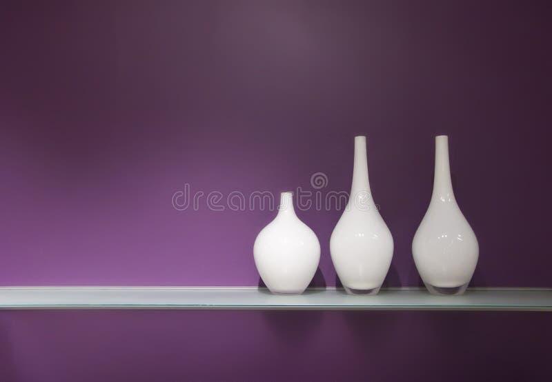 玻璃三花瓶 免版税库存照片