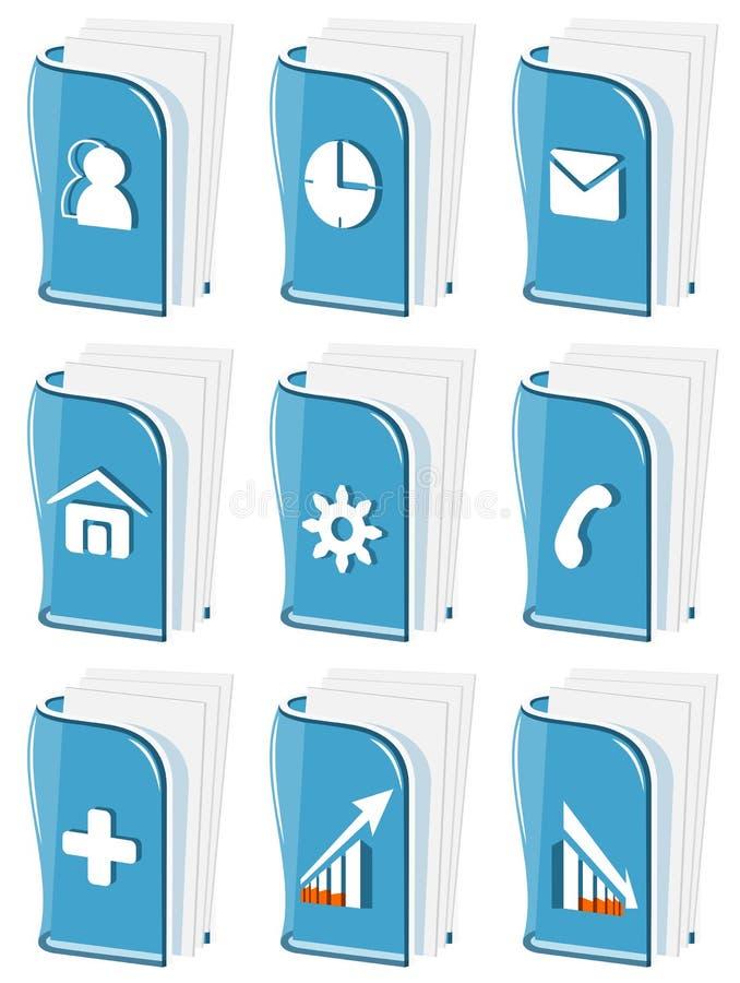 玻璃企业图标 库存例证