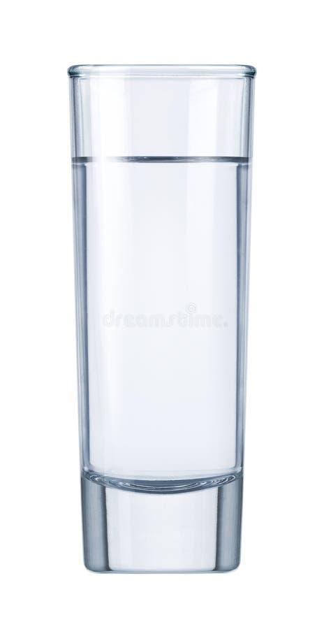 玻璃伏特加酒水 免版税库存图片