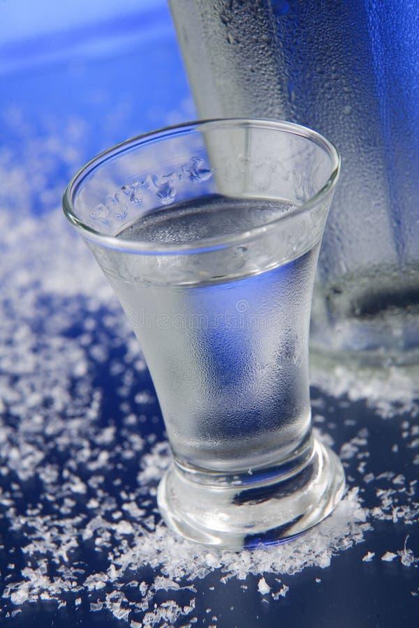 玻璃伏特加酒酒 库存图片