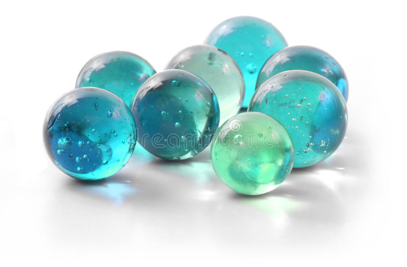 玻璃使绿松石有大理石花纹 免版税图库摄影