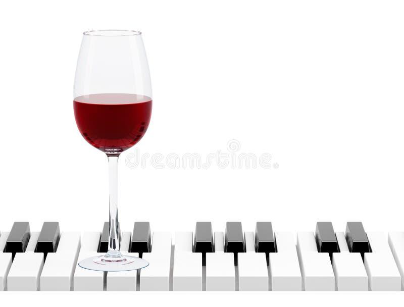 玻璃关键钢琴酒