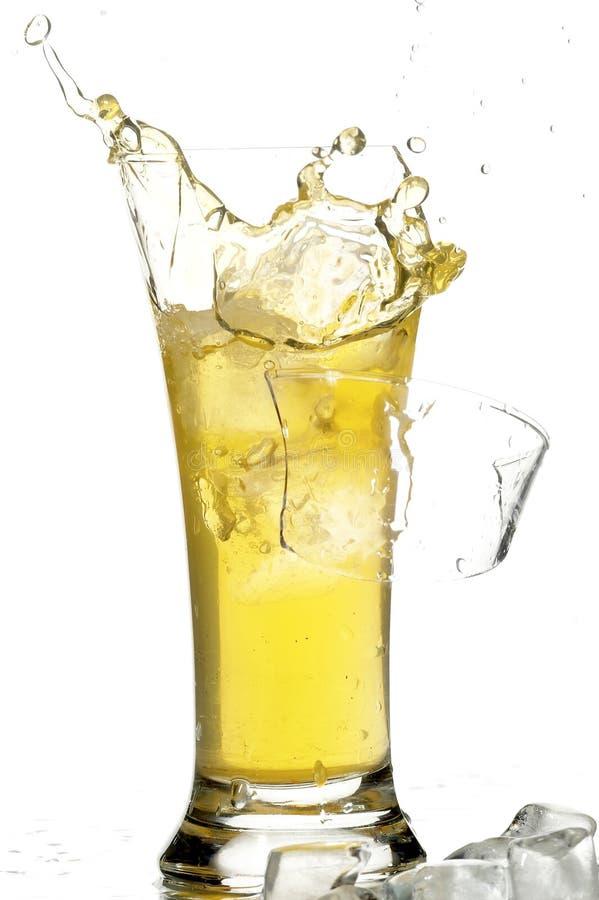 玻璃冰汁液 库存图片